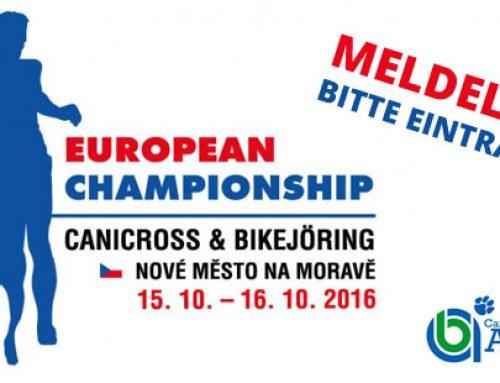 Meldeliste für die ECF Europameisterschaft 2016